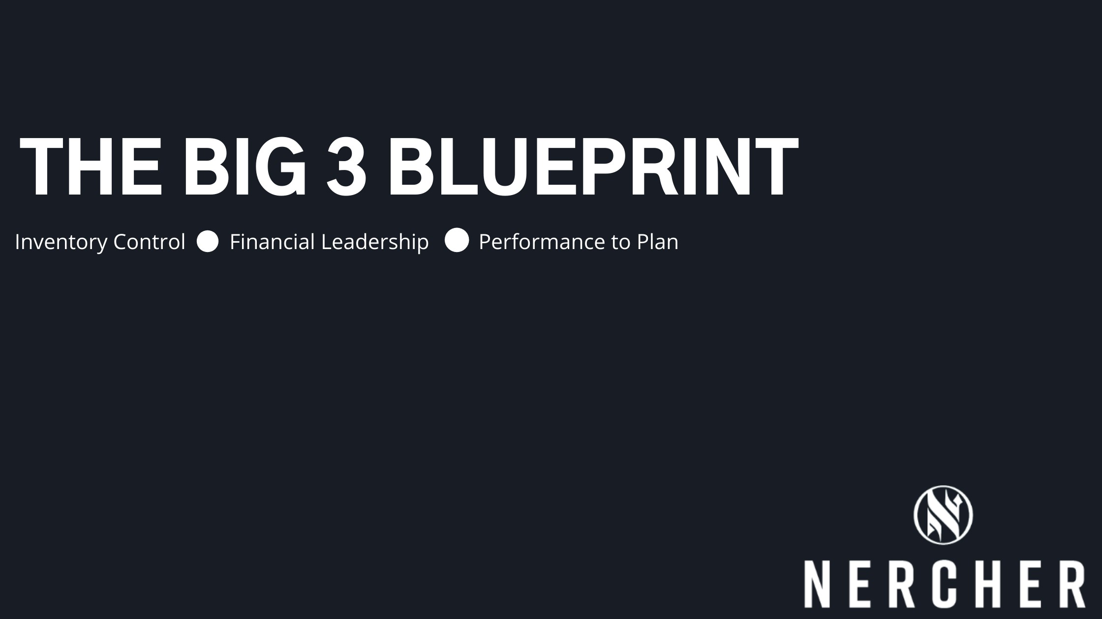The Big 3 Blueprint: How to Set Your Small Business Up to Scale Responsibly